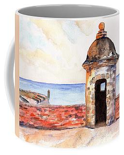 Puerto Rico Sentry Box Ocean View Coffee Mug