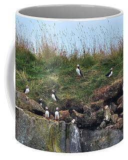 Puffins In Iceland Coffee Mug