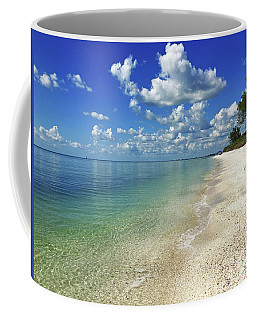 Puffy White Clouds At Delnor-wiggins Coffee Mug