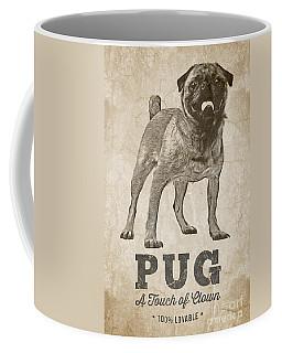 Pug A Touch Of Clown Coffee Mug