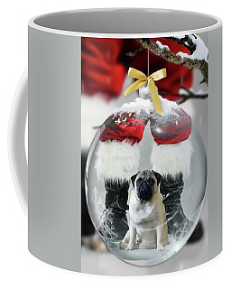 Pug And Santa Coffee Mug