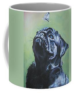 Pug Black  Coffee Mug