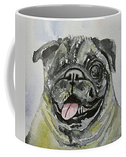 One Eyed Pug Portrait Coffee Mug