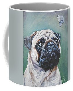 Pug With Butterfly Coffee Mug