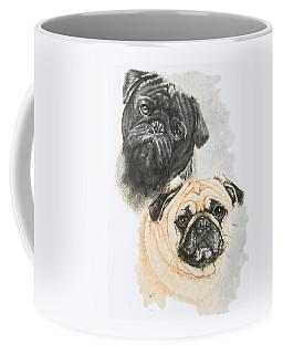 Pugs Coffee Mug by Barbara Keith