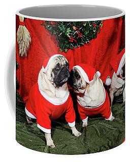 Pugs Dressed As Father-christmas Coffee Mug