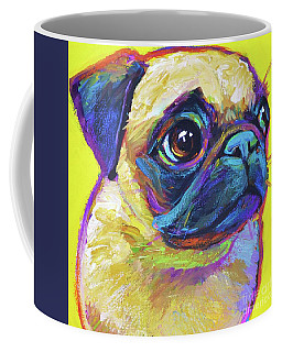 Pugsly, A Closer Look Coffee Mug by Robert Phelps