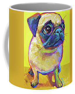 Pugsly Coffee Mug by Robert Phelps