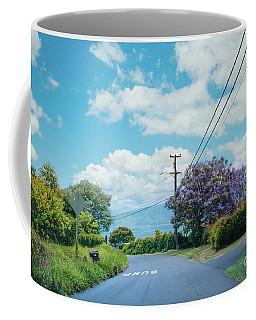 Pulehuiki Road Upcountry Kula Maui Hawaii Coffee Mug by Sharon Mau