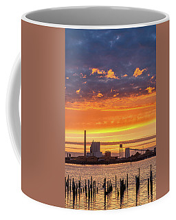 Coffee Mug featuring the photograph Pulp Mill Sunset by Greg Nyquist