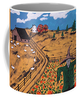 Pumpkin Patch Scarecrow Coffee Mug