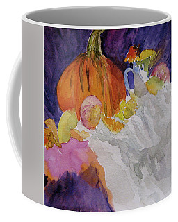 Coffee Mug featuring the painting Pumpkin Still Life by Beverley Harper Tinsley
