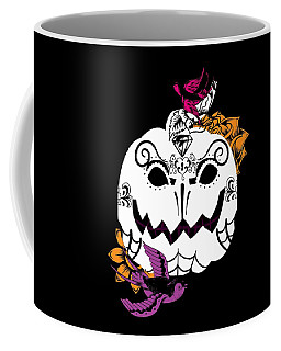 Pumpkin Sugar Skull  Coffee Mug