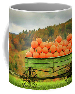 Pumpkins On A Wagon Coffee Mug