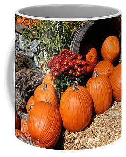 Coffee Mug featuring the mixed media Pumpkins- Photograph By Linda Woods by Linda Woods