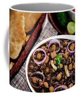 Punjabi Indian Cuisine Puri Channa  Coffee Mug by Manjot Singh Sachdeva