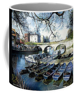 Coffee Mug featuring the digital art Punting On The Thames by Pennie McCracken