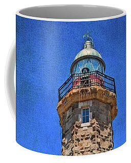 Coffee Mug featuring the photograph Punto Doncela Lighthouse by Mary Machare