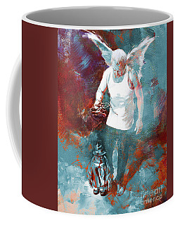 Coffee Mug featuring the painting Puppet Man 003 by Gull G