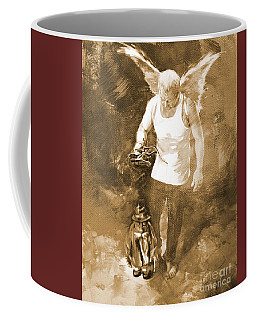 Coffee Mug featuring the painting Puppet Show by Gull G