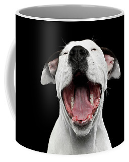 Coffee Mug featuring the photograph Puppy Laughs by Sergey Taran