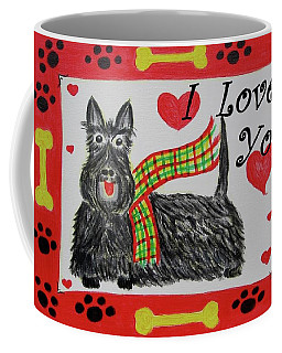 Coffee Mug featuring the painting Puppy Love by Diane Pape