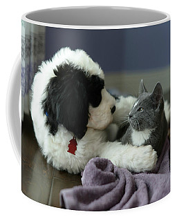 Coffee Mug featuring the photograph Puppy Love by Linda Mishler