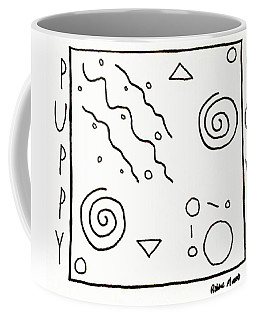 Coffee Mug featuring the drawing Puppy Love by Robbie Masso