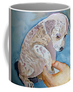 Puppy Shaking Hands Coffee Mug