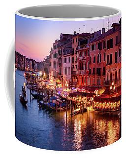 Cityscape From The Rialto In Venice, Italy Coffee Mug