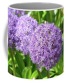 Purple Allium Garden In Bloom Coffee Mug by DejaVu Designs