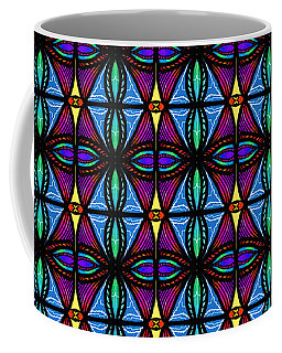 Purple And Blue Diamonds Coffee Mug