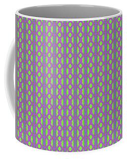 Coffee Mug featuring the digital art Purple And Green by Elizabeth Lock