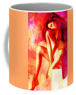 Purple And Red Woman Coffee Mug by Andrea Barbieri