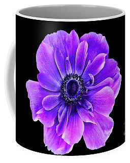 Purple Anemone Flower Coffee Mug by Mariola Bitner