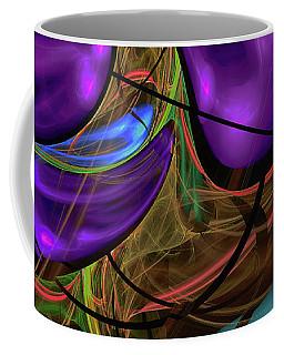 Coffee Mug featuring the digital art Purple Anyone by Deborah Benoit