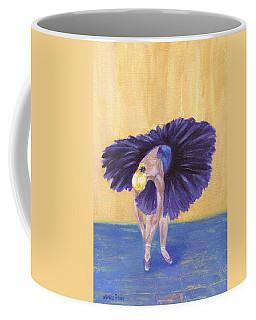 Coffee Mug featuring the painting Purple Ballerina by Jamie Frier