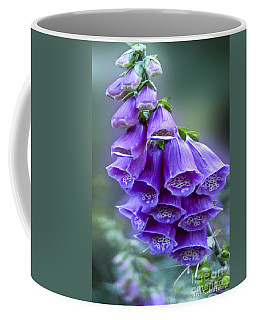 Purple Bell Flowers Foxglove Flowering Stalk Coffee Mug by Carol F Austin