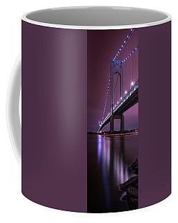Coffee Mug featuring the photograph Purple Bridge by Edgars Erglis