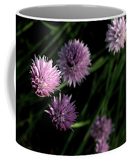 Coffee Mug featuring the photograph Purple Chives by Angela Rath