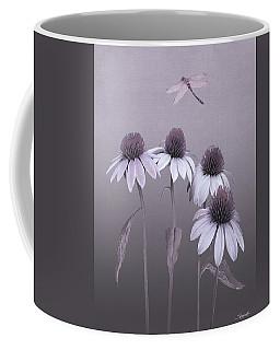 Purple Coneflowers And Dragonfly Coffee Mug
