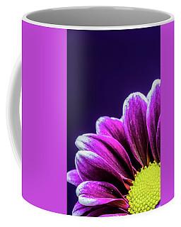 Purple Daisy Being Shy Coffee Mug
