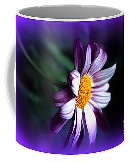 Coffee Mug featuring the photograph Purple Daisy Flower by Susanne Van Hulst