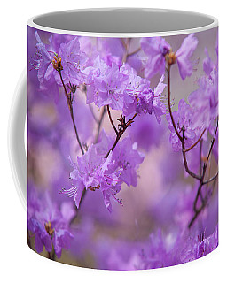 Coffee Mug featuring the photograph Purple Delight. Spring Watercolors by Jenny Rainbow