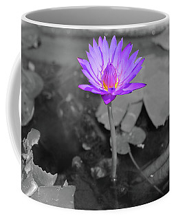 Purple Enlightened Lotus Coffee Mug