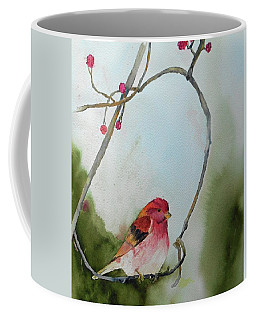Purple Finch Coffee Mug by Christine Lathrop