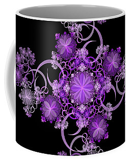 Coffee Mug featuring the photograph Purple Floral Celebration by Sandy Keeton