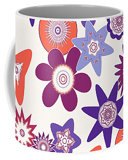 Purple Flower Fantasy Coffee Mug by Methune Hively