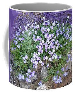 Purple Flower Textured Photo 1028b Coffee Mug