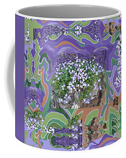 Purple Flower Textured Photo 1028d Coffee Mug